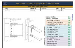 طراحی اتصال پیچی BFP